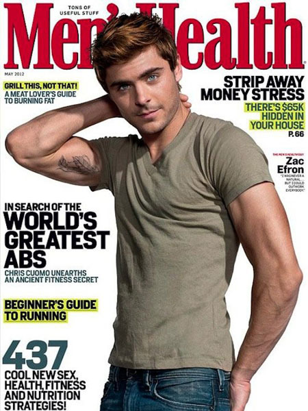 Pic! Zac Efron Flexes for 'Men's Health'