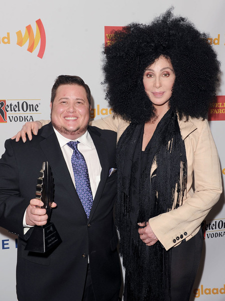 Cher and Giant Hair Present Son Chaz Bono with GLAAD Award