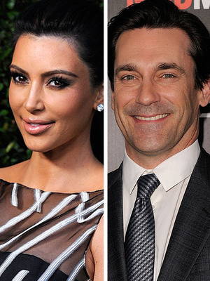 Extra Scoop: Kim K. and Jon Hamm Call a Truce
