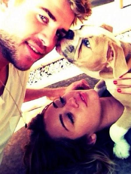 Pics! Miley Cyrus and Liam Hemsworths Puppy Love