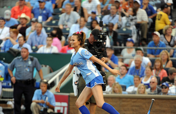Batter Up! Chrissy Teigen Takes a Swing for MLB All-Star Game