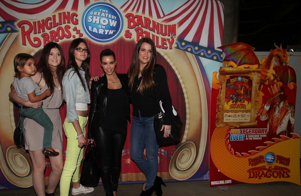 Pics! The Kardashians Join the Circus