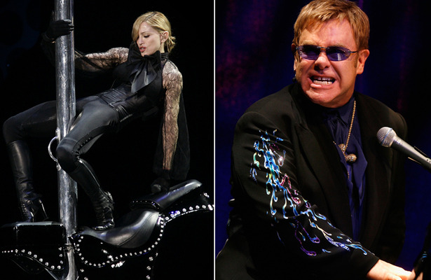 Elton John on Madonna: She Looks Like a &#039;Fairground Stripper&#039;