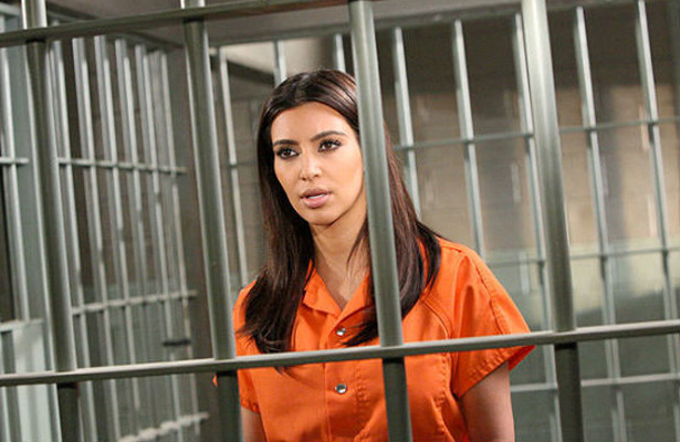 Kim Kardashian Does Jail Time for 'Drop Dead Diva'
