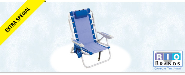 Win It! Rio's Backpack Beach Chair with Cooler
