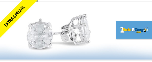 Win It! 2-Carat White Topaz Earrings