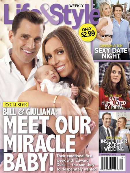 Giuliana and Bill Rancic: Baby Edward Duke's Magazine Debut