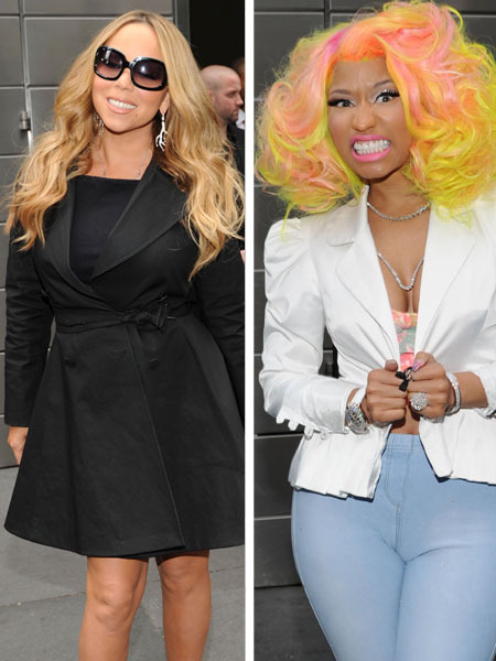 &#039;American Idol&#039;: Mariah Carey and Nicki Minaj Feud on First Day 