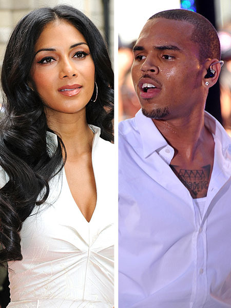 Nicole Scherzinger Locking Lips with Chris Brown?