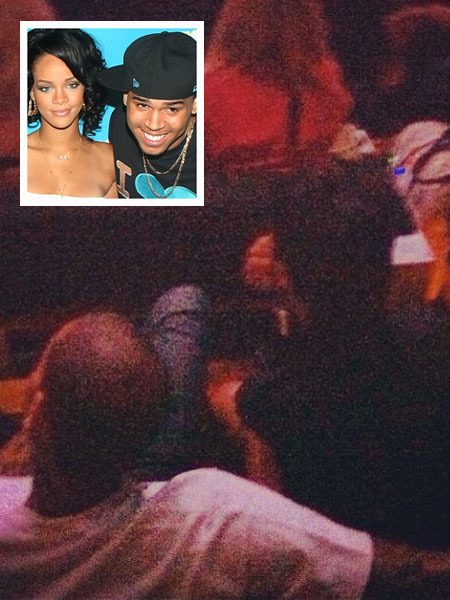 Pic! Chris Brown and Rihanna Spotted at Jay-Z&#039;s Brooklyn Show