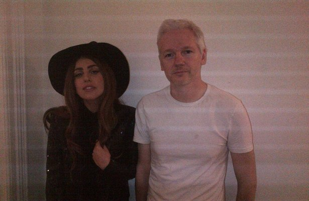 Lady Gaga Visits WikiLeaks Chief Julian Assange