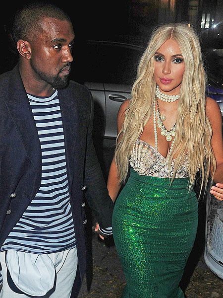 Pic! Kim Kardashian Plays Mermaid for Halloween