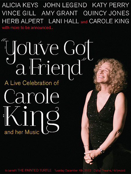 Stars Line Up for Celebration of Carole King and Her Music