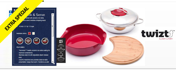 Win It! A Twiztt All-in-One Cookware Set from Joan Lunden