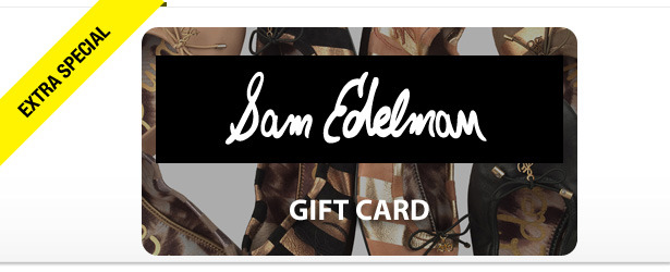 Win It! A Gift Card for a Pair of Sam Edelman Shoes