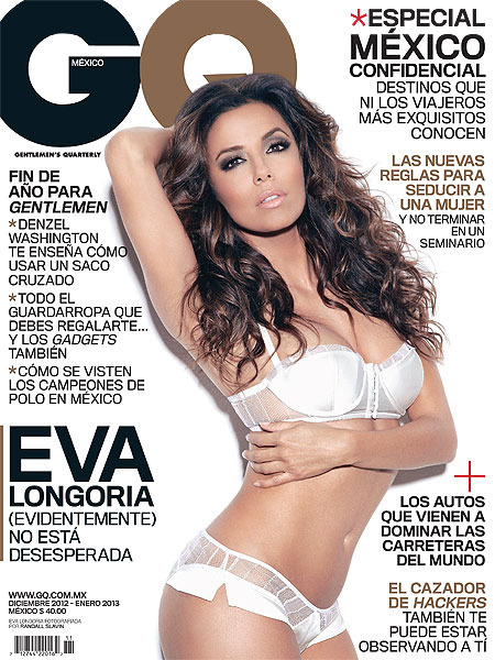 Eva Longorias Sultry Lingerie Cover