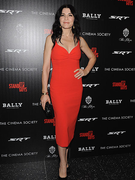 Lady in Red! Julianna Margulies at the Stand Up Guys Premiere