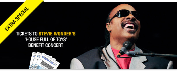 Win It! Tickets to Stevie Wonder's 'House Full of Toys' Benefit Concert