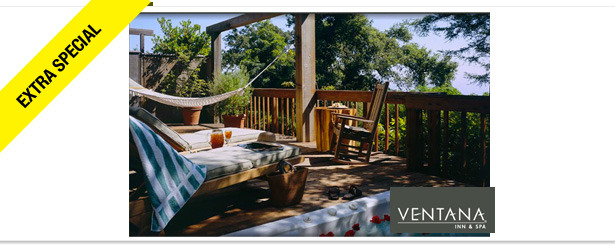 Win It! One-Night Stay at Ventana Inn and Spa in Big Sur