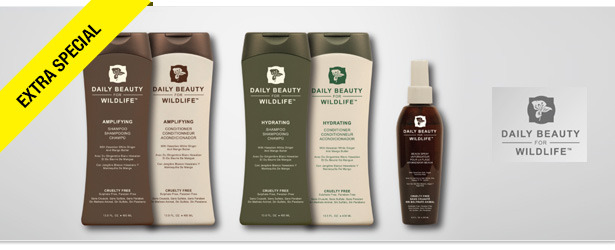Win It! Daily Beauty for Wildlife Hair Care Products