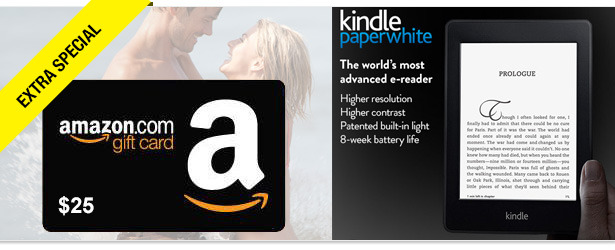 Win It! An Amazon Kindle Paperwhite and $25 Amazon Gift Card
