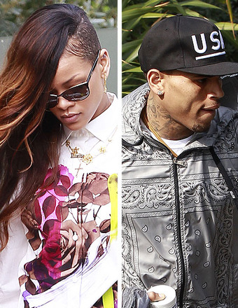 Rihanna Shows Support for Chris Brown in Court