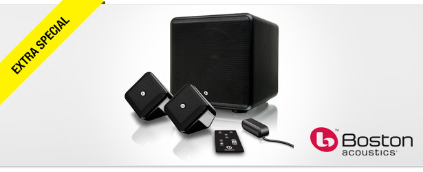 Win It! A Boston Acoustics SoundWare XS Digital Cinema