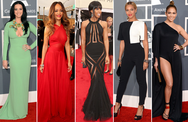 Grammy Fashion: Stars Defy Dress Code, Bust Out on Red Carpet