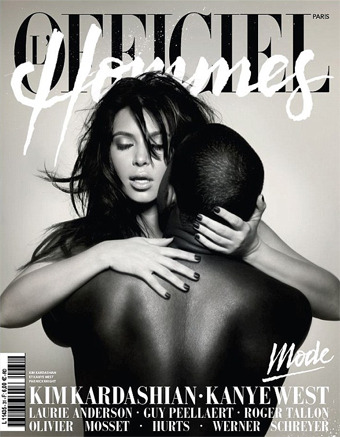 Racy Pic! Kim Kardashian and Kanye West's Naked Embrace