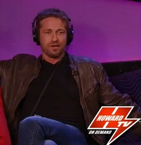 sneak peek gerard butler and bubba the sponge on howardtv. Black Bedroom Furniture Sets. Home Design Ideas