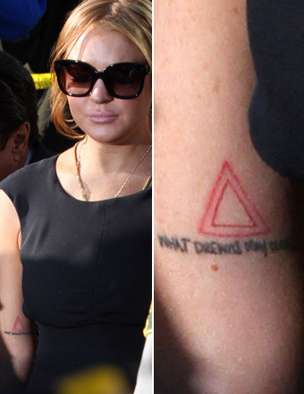 Lindsay Lohan's Triangle Tattoo: What it Means
