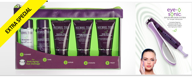 Win It! A Eye-O-Sonic and Skincare Products from Michael Todd True Organics