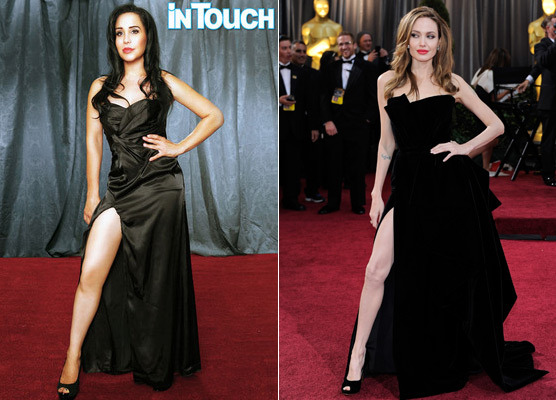 Octomoms Bizarre Photo Tribute to Angelina Jolie -- Is She Obsessed?  