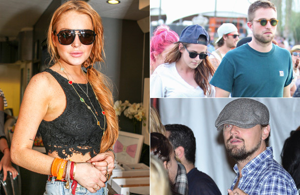 Stars at Coachella! Lindsay Lohan, Leonardo DiCaprio and Others