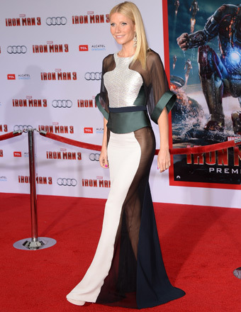Gwyneth Paltrow Wows in Sexy See-Thru at &#039;Iron Man 3&#039; Premiere