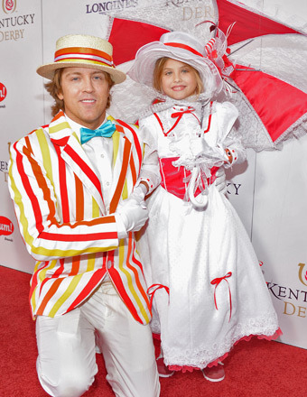 and Dannielynn Birkhead at the 2013 Kentucky Derby / Credit: Getty