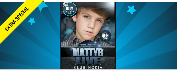 Win It! Tickets to See MattyB Live at Club Nokia