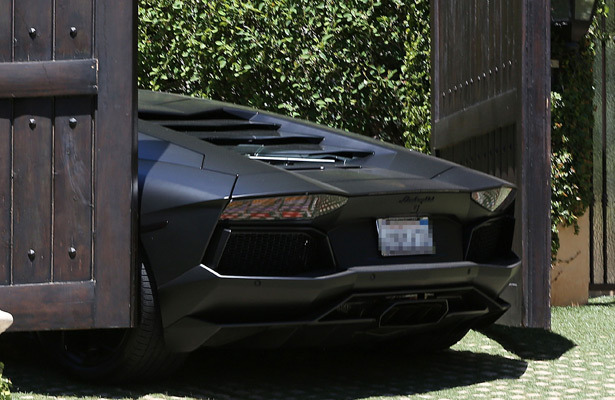 Kanye West's $750K Lamborghini Nearly Crushed by Kim K's Gate