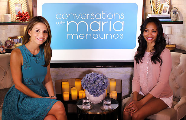 Maria Menounos Talks with Zoe Saldana in 'Conversations' Premiere