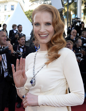 "Jessica Chastain attended the ""Cleopatra"" premiere at the Cannes Film Festival on Tuesday."