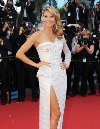 Heidi Klum leg bombed the red carpet at the Cannes Film Festival on Thursday.