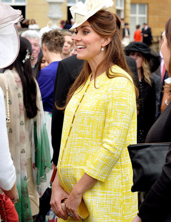 Kate Middleton attended a garden party at Buckingham Palace on Wednesday.