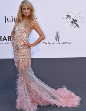 Paris Hilton attended amfAR's Cinema Against AIDS event at Cannes.
