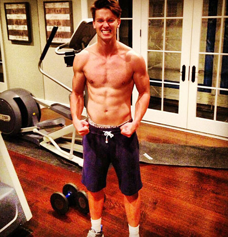Pic! Patrick Schwarzenegger is Pumped Up