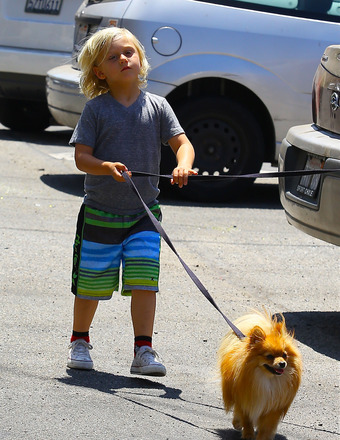 Zuma Rossdale spent Father's Day with dad Gavin Rossdale in Studio City.