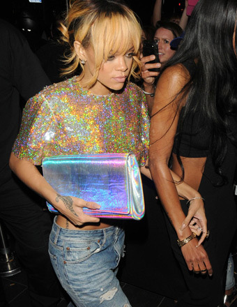 Rihanna enjoyed a night out at Boujis nightclub before heading back to her hotel in London on Sunday.