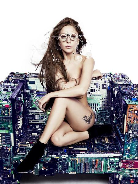 Lady Gaga Naked for 'ARTPOP'