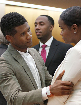 Usher Was Taking Ex-Wife to Court Before Their Son's Pool Accident