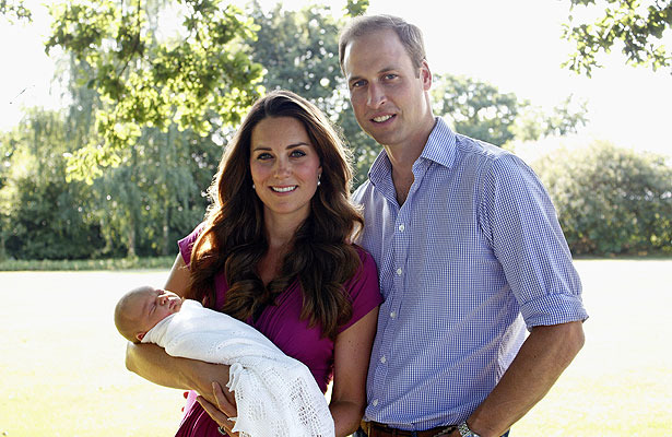 Prince George Pics! The First Official Royal Family Portrait