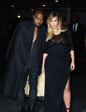 Pics! Kim Kardashian Flashes Some Skin in Paris